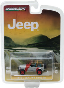 Greenlight-1-64-1993-Jeep-Wrangler-YJ-Red-amp-Grey-Hobby-Exclusive-29856