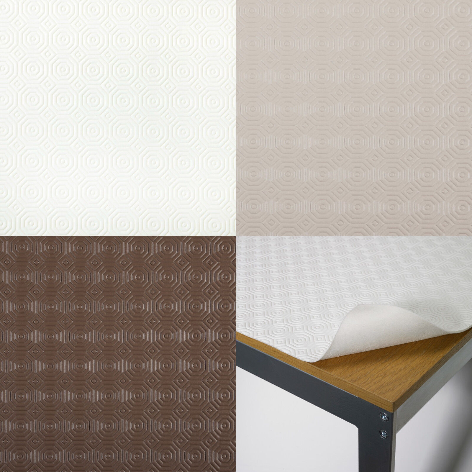 Details about Heat Resistant Table Cover Protector / Felt Backed 3mm Thick  - Beige Cream Brown