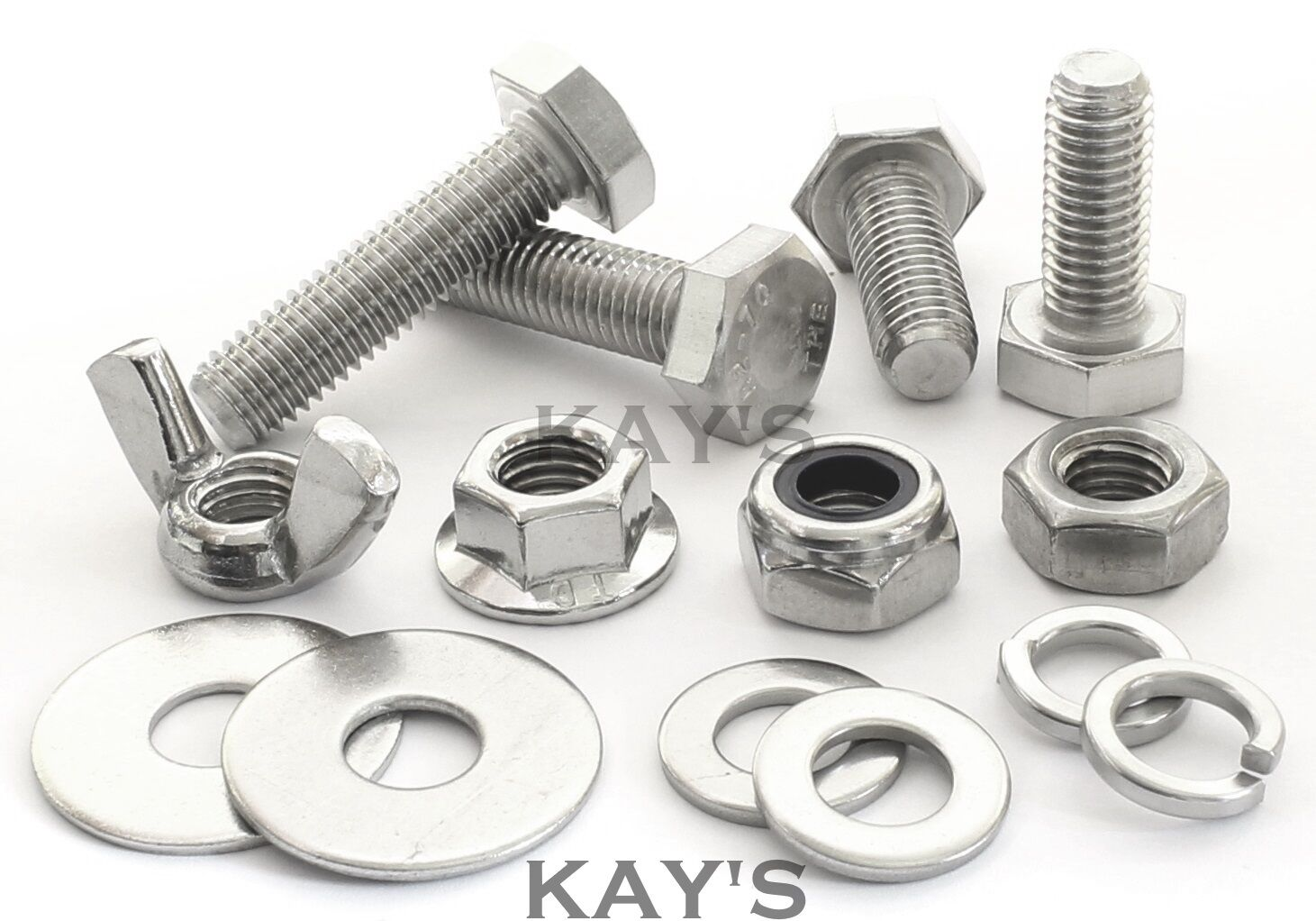 M5 FASTENERS CHOOSE FULLY THREADED SCREWS, NUTS OR WASHERS STAINLESS STEEL BOLTS