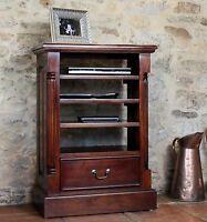 Nara Solid Mahogany Furniture Tv Dvd Console Storage Cabinet Entertainment Unit