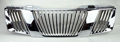 Chrome Vertical Front Bumper Hood Grill FITS Nissan Frontier Navara Pathfinder