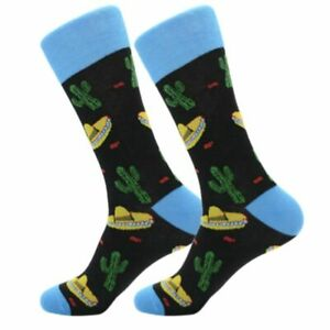 Mens-Cool-Bright-Mexican-Fiesta-Party-Funky-Happy-Crew-Socks