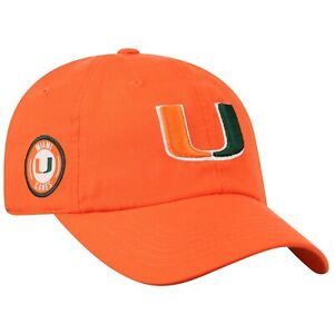 Miami-Hurricanes-Hat-Cap-Lightweight-Moisture-Wicking-Golf-Hat-Licensed-NEW