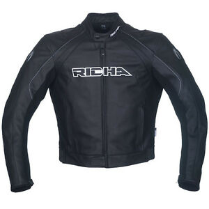 7cbe1b66c Details about Richa Black Leather jacket - Sniper Leather  motorcycle/motorbike jacket £100 Off