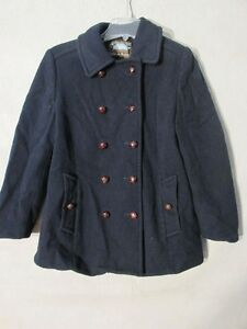 V7263-Macintosh-Wool-Navy-Button-Up-w-Leather-Buttons-50-039-s-Peacoat-Women-039-s-14