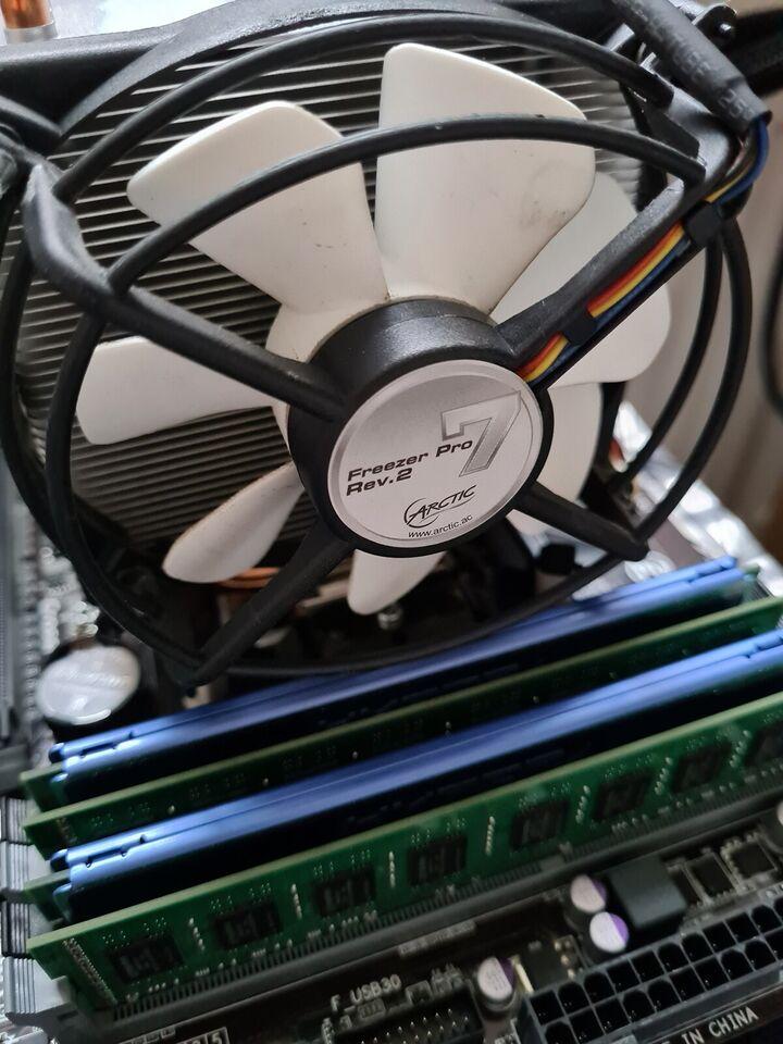 Bundkort m. CPU, Blæser og ram, God