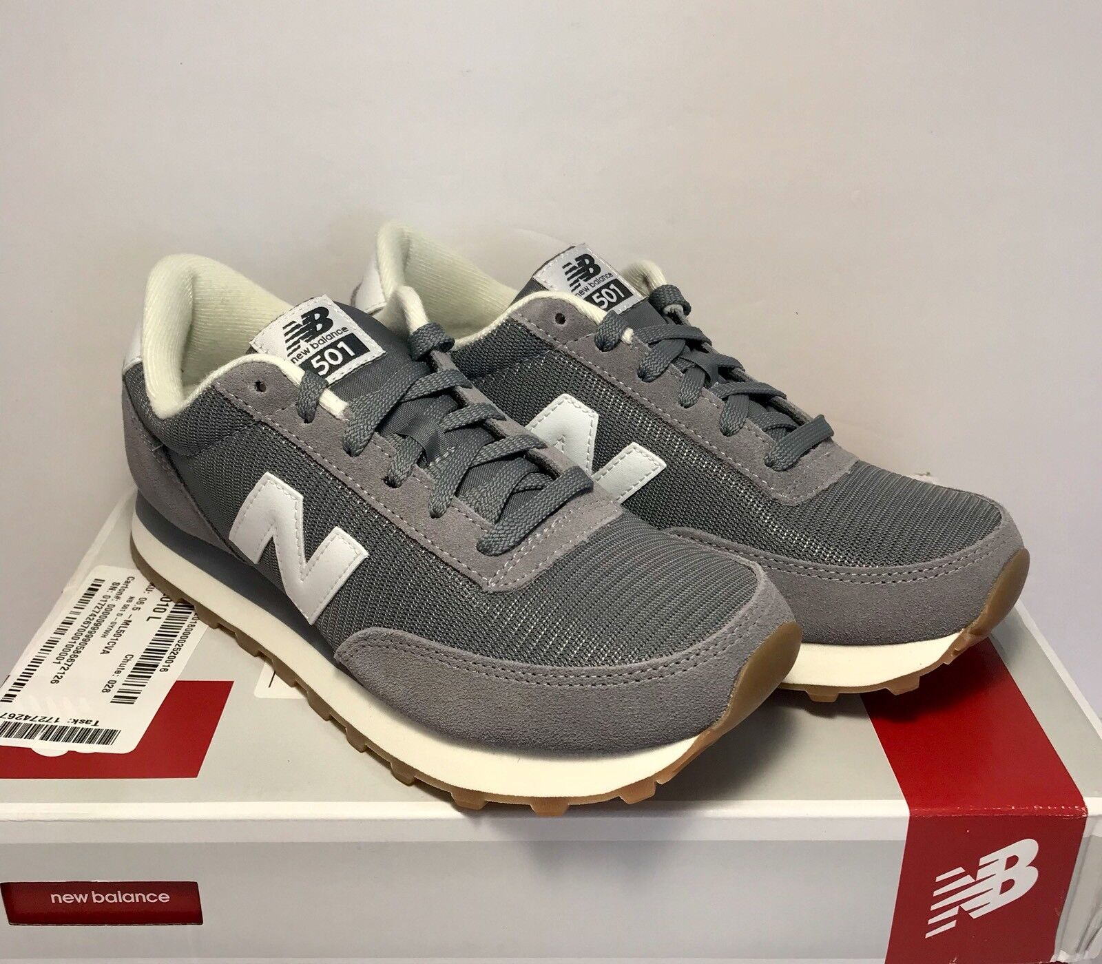 New Balance 501 Sneaker Mens Size 6.5 Athletic Sneaker 501 Running Shoes Grey White 0a4661
