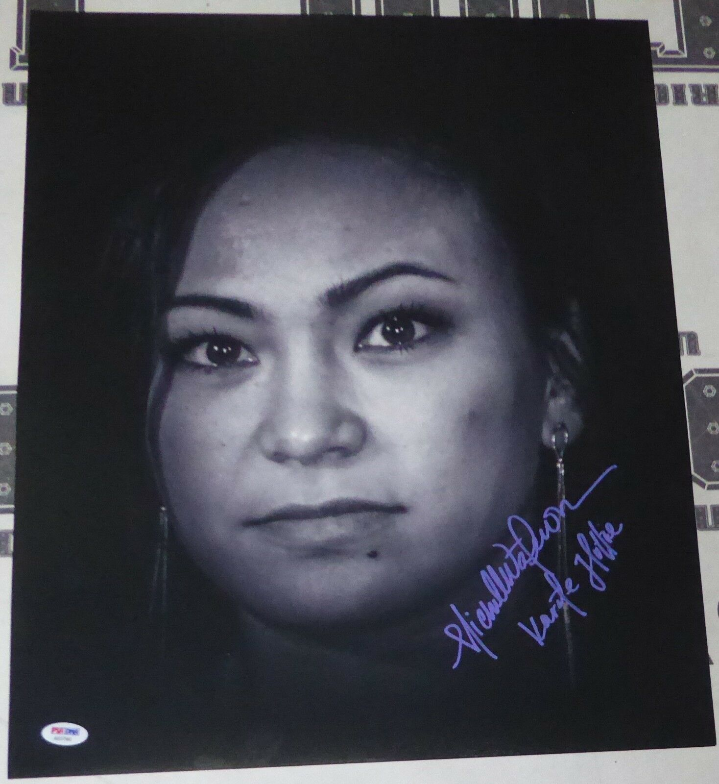 Michelle Waterson Firmado UFC 16x20 Foto PSA DNA COA Karate Hottie Imagen Auto