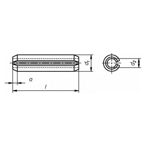 200x ISO 8752 Spannstifte//Spannhülsen 2.5x8 KP