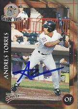 Andres Torres 2001 Erie SeaWolves Signed Card