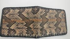 Real Timber rattlesnake Skin Handmade laced BI FOLD wallet /removable ID case