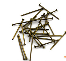 100Pcs 28mm Dull Silver Plated Head Pins ~ DIY Jewelry Charms Finding