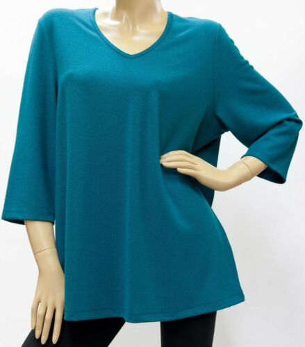 Pullover Viskosemisch grün dünn BÜGELFREI V-Ausschnitt 46-56