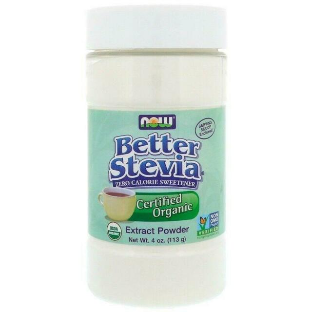 Now Foods, Better Stevia, Organic Extract Powder, 4 oz (113 g)