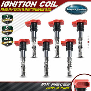 A-Premium Ignition Coil Pack Replacement for Audi A4 A6 Quattro 2002-2005 06C905115B 3.0L