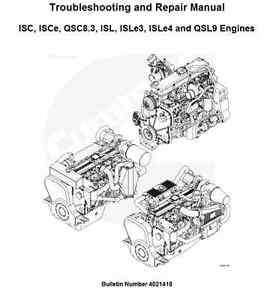 4021418 troubleshooting and repair manual qsc8 3 and qsl9 ebay rh ebay co uk QSL9 Blcok Cummins QSL9 Specs