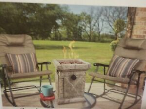 Btu Mosaic Table Top Gas Fire Pit