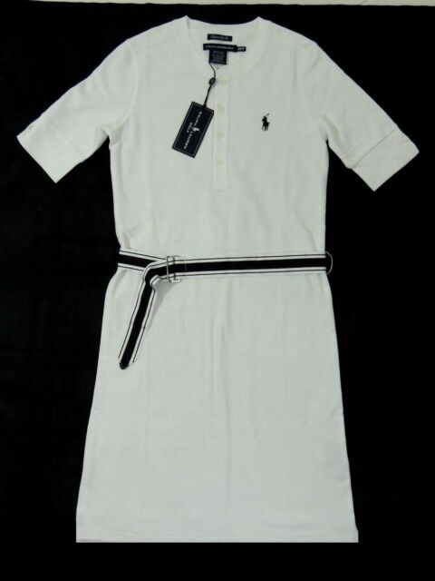 modern techniques new styles authentic quality Women Ralph Lauren Golf Fit Polo Pony Sundress Mesh Dress Striped Belt L