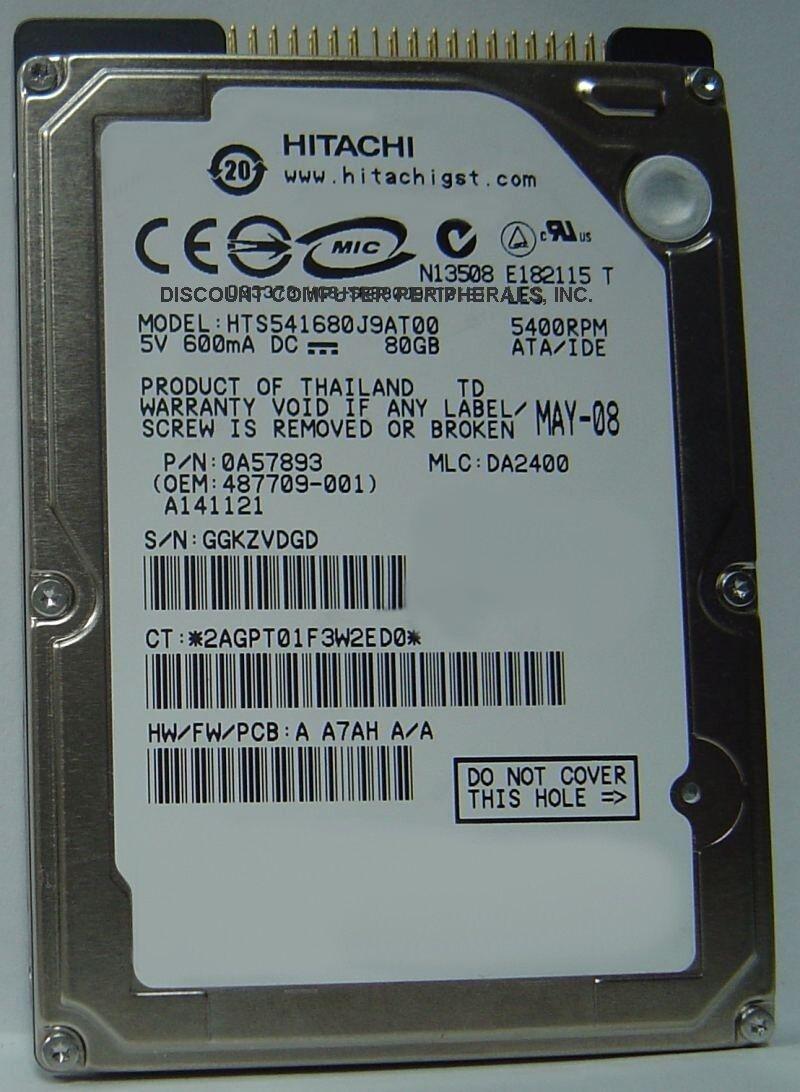 Laptop Hard Drive 5400 RPM 1 Yr Warranty 80 gb 2.5 PATA Hitachi 80GB 80 GB 2.5 Inch IDE