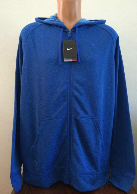 f574d22109a0  75 Mens Size XL Blue Nike Dri-Fit Full Zip Hoodie Sweatshirt Jacket 588639  480