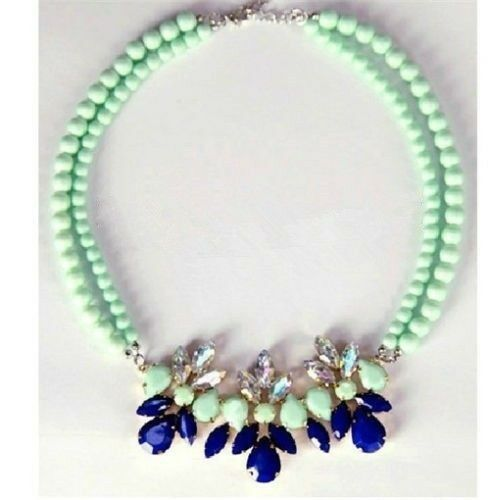New Arrive Hot Selling Fashion Handmade Crystal Gemstone Bib Necklace A1659