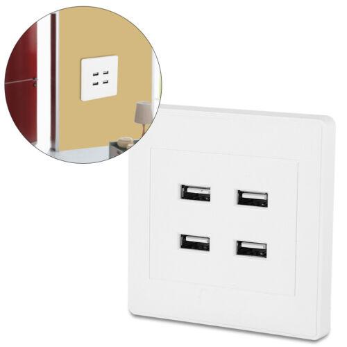 Steckdose Wandsteckdose Unterputz 4 USB Anschluss Ladegerät Outlet DC 5V 3.1A♥