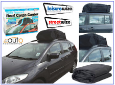 458 LITRE ROOF CARGO BAG BOX CARRIER WATER RESISTANT *FOR CARS WITH ROOF RAILS*