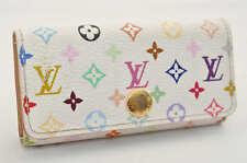 Authentic  Louis Vuitton Multicolore Multicles 4 Keys Case White N60043 #S3080 E