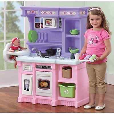 Little Kid Kitchen Play Sets Kids Pretend Girls Toys Cooking Set Toddlers  Party 6784357699196 | eBay