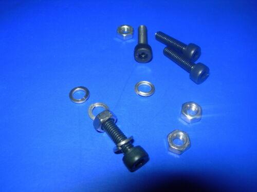 M5 Socket PAC Cabeza Pernos Negro Paquete De 10 M2.6 M4 M3 nuts//spring Arandelas M2