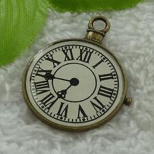 free ship 30 pcs bronze plated clock charms 39x31mm #2907