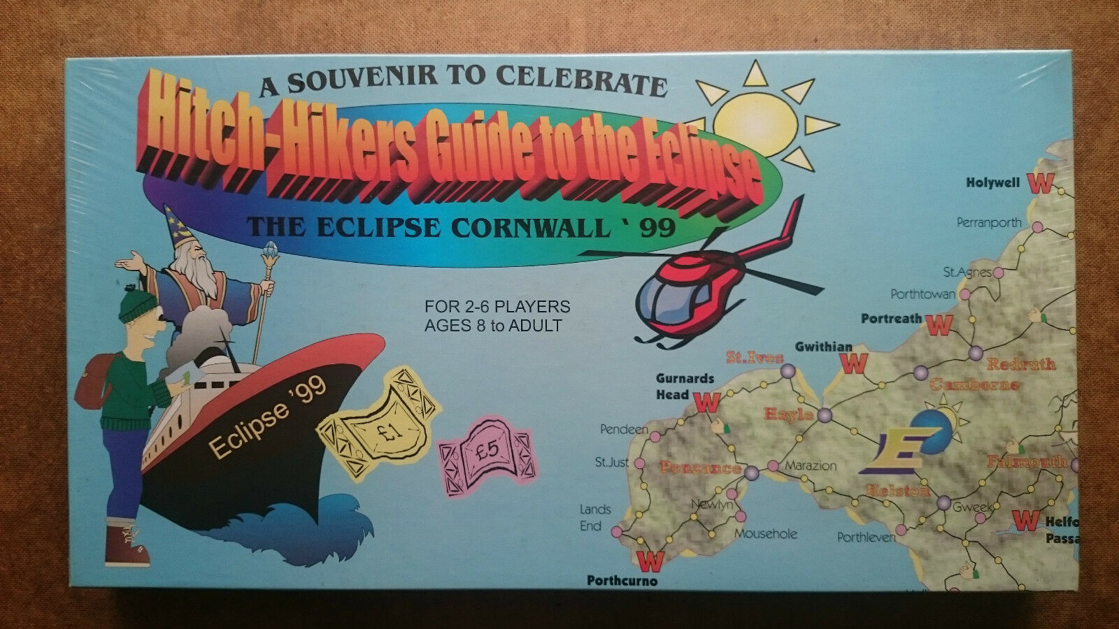 Hitch Hikers Guide to the Eclipse Cornwall  (New and Sealed)