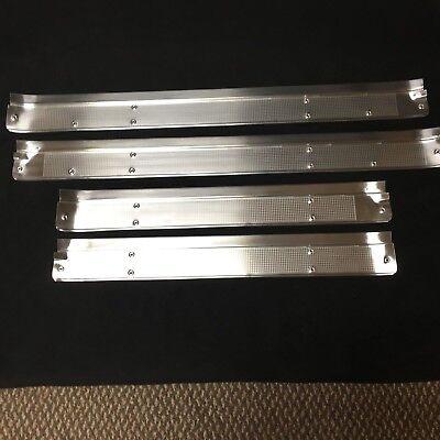 4-Door 68 69 70 71 72 Chevelle STINLESS Sill Scuff Plates 4 Pcs Set w// Fisher