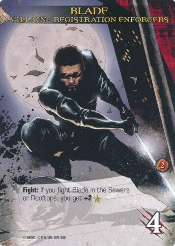 BLADE Upper Deck Marvel Legendary VILLAIN REGISTRATION ENFORCERS