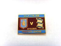 Aston Villa v Birmingham 2010/11 Match Day Badge - Gilt Football Badge