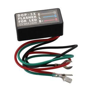 1X-LED-RELAIS-REPETITEUR-CLIGNOTANT-FLASHER-3PIN-BROCHE-POUR-VOITURE-MOTO-Q8W-8T