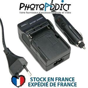 Chargeur pour batterie PANASONIC D08S/16S/28S/D120/220/320 - 110 / 220V et 12V