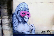 Banksy Gas Mask Flower Girl Photo Art Print
