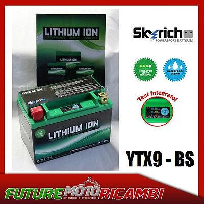 SKYRICH BATTERIA LITIO YTX9 BS MOTO SUZUKI GSX 600 R K4 K5 2004 2005 BATTERY