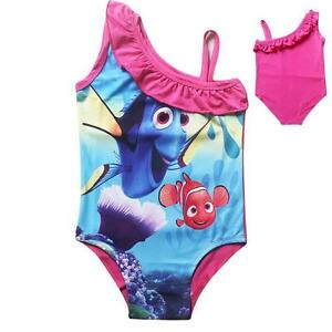 Disney Finding Dory Nemo Swimsuit Girls Age 3 10 Years Swimming Wear