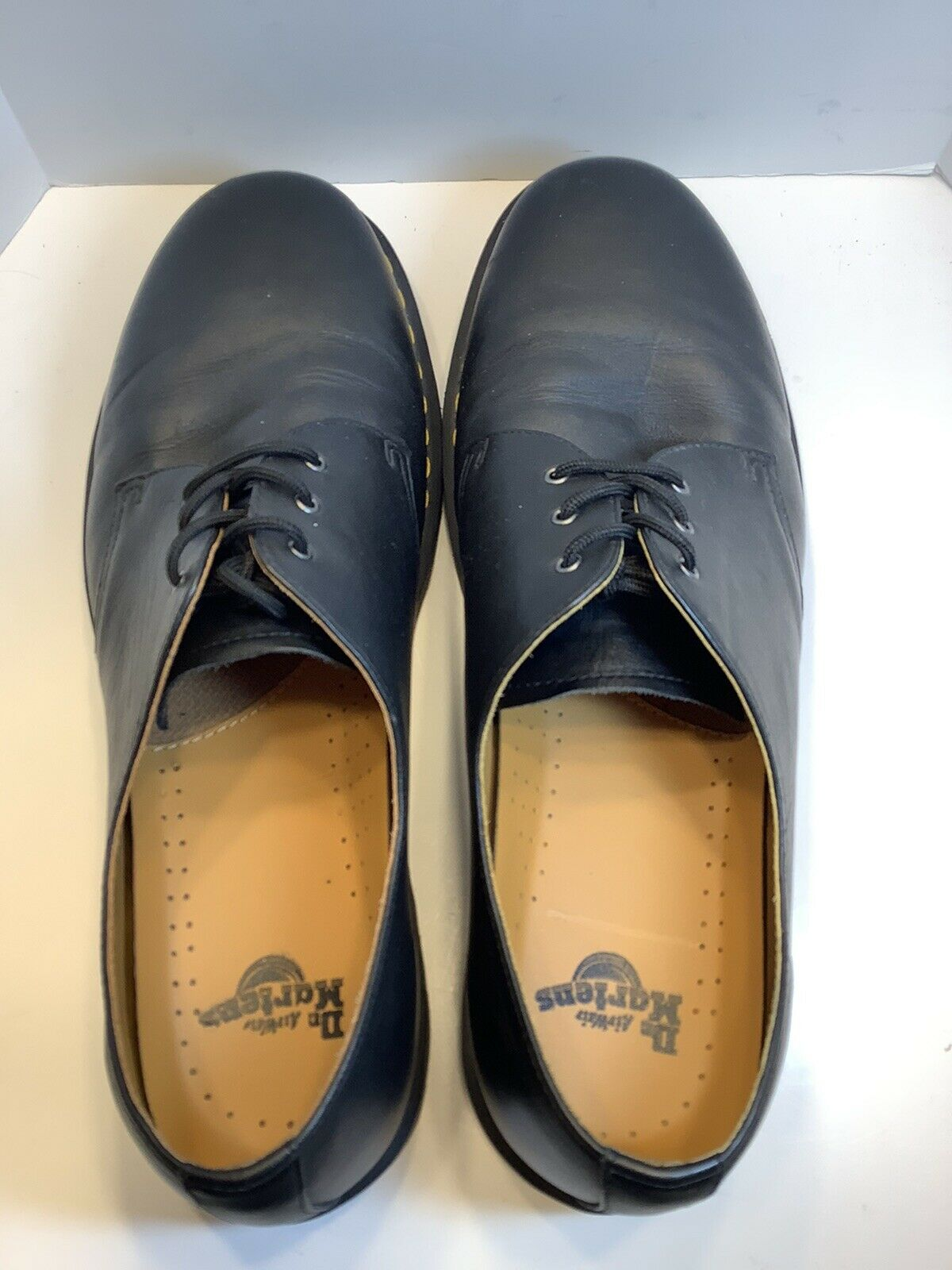 Dr. DOC Martens Boston AW004 Black Leather Oxford Work Shoes Mens US 15 M, New