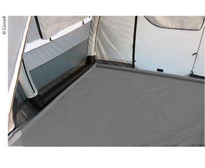 PVC Bodenplane Grau 250 x 500cm Wasser Schutz Ränder Vorzeltplane aufblasbar