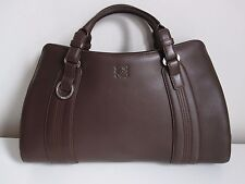 Authentic Loewe Amazona variant, handbag leather brown