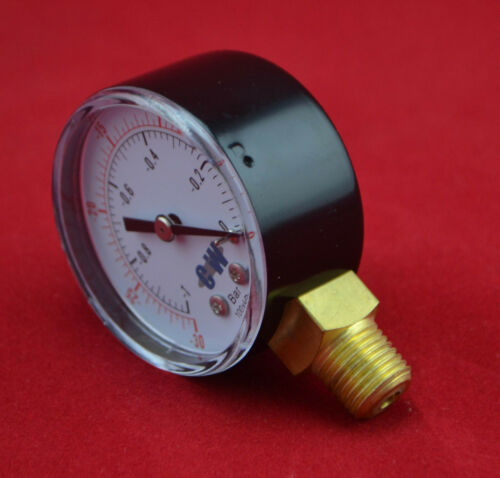 "2/""50mm bottom connect vacuum pressure gauge Lower Mount manometer PT or NPT 1//4/"""