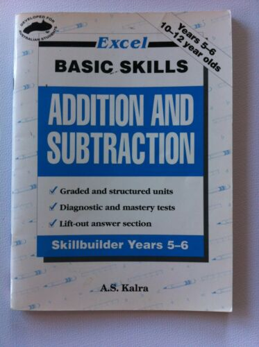 1 of 1 - Excel Basic Skills Addition & Subtraction Year 5-6 Ages 10-12 Teacher Resource