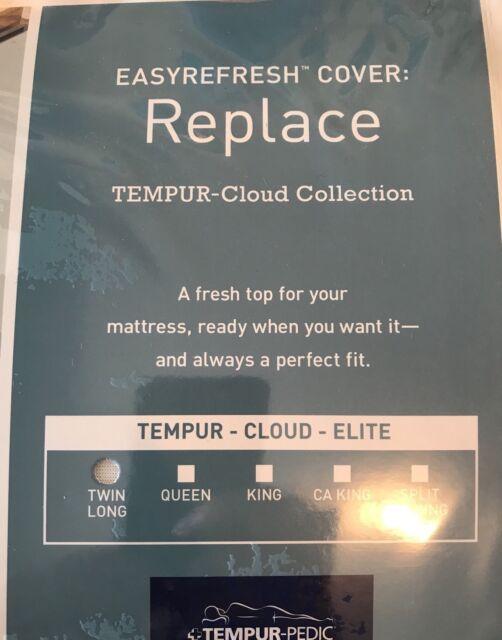"""TEMPURPEDIC TEMPUR-Cloud Elite TWIN XL  39""""X80"""" Easy Refresh  COVER ONLY."""
