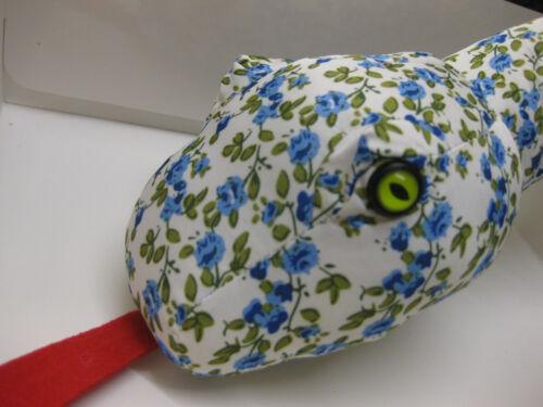 "Gros 66/"" Long Bleu Vert Serpent Toy Soft Play nouveau confort tissu Fort UK vendre"