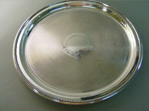 Antique-silver-epns-JUGENDSTIl-tray-SILBER-10-inch-breit-628-gr-heavy