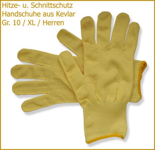 Hitze und Schnitt-Schutzhandschuhe TOP-Angebot Herren, Gr. 10 // XL