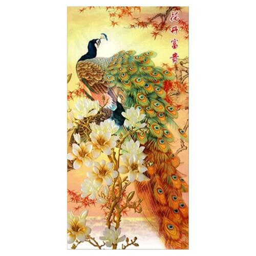 5D DIY Full Drill Diamond Painting Peacock Cross Stitch Embroidery Craft Decor